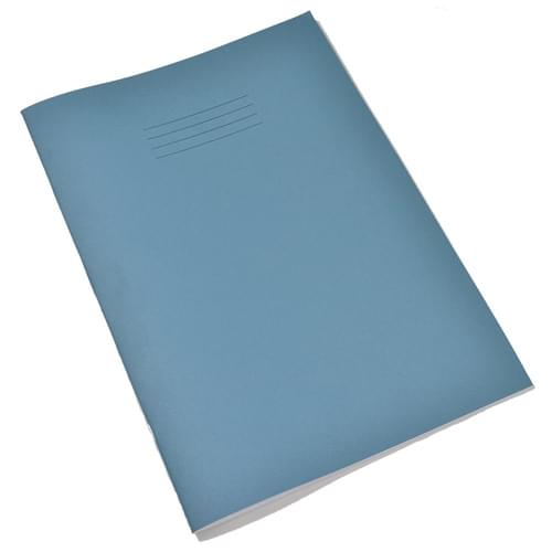 A4 SEN Exercise Books 12mm Ruled & Margin Pink Paper Light Blue Cover 48 Pages