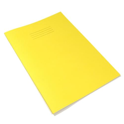 Rhino A4 Exercise Books 8mm Ruled & Margin Yellow 96 Pages