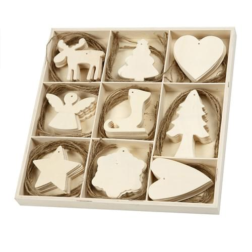 Christmas Wooden Decoration Pack