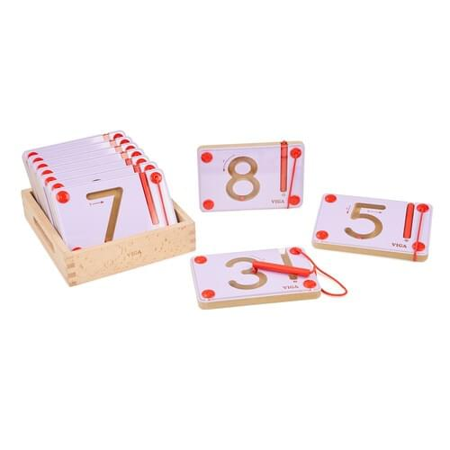 Magnetic Number Mazes 0-9