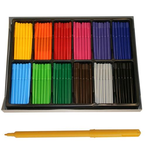 Colourworld Super Saver Fine Tip Colouring Felt Pens Assorted Classpack of 288