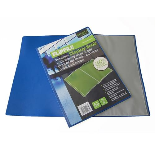 Flipfile Blue Recycled Display Book A3 10 Pockets