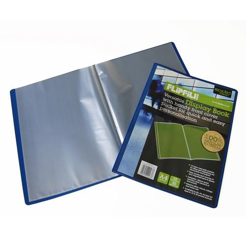 Flipfile Blue Recycled Display Book A4 10 Pockets