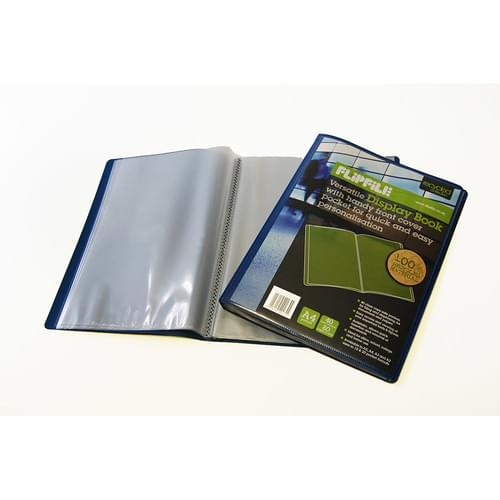 Flipfile Blue Recycled Display Book A4 40 Pockets