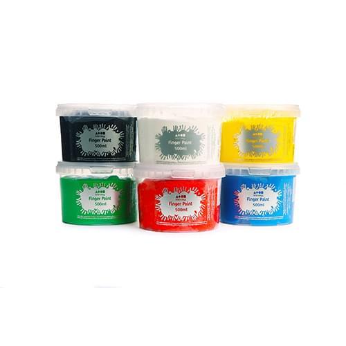 Finger Paint 6 Colour Standard Assortment