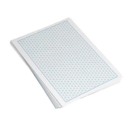 A4 Modern Maths Paper 10mm Isometric Grid 100 Sheets
