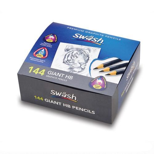 Swsh KOMFIGRIP Giant HB Pencils Classpack of 144