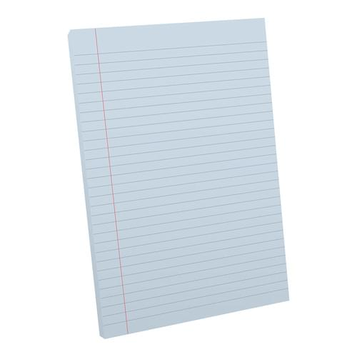 A4 Tinted Exercise Paper Pad 8mm Ruled & Margin Blue Paper