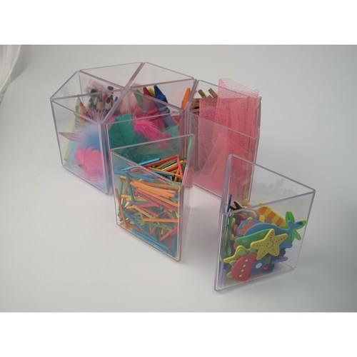 Handi Triangular Pots Clear Pk10