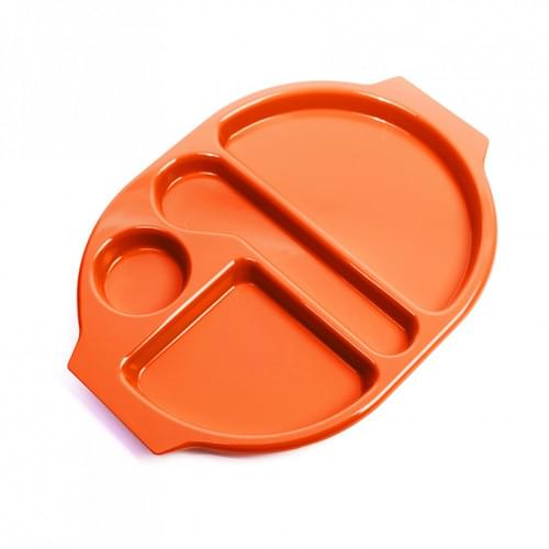 Large Meal Tray Orange Pk10