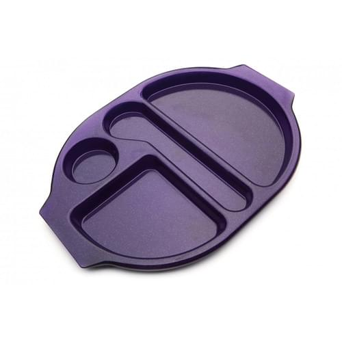 Large Meal Tray Purple Sparkle Pk10