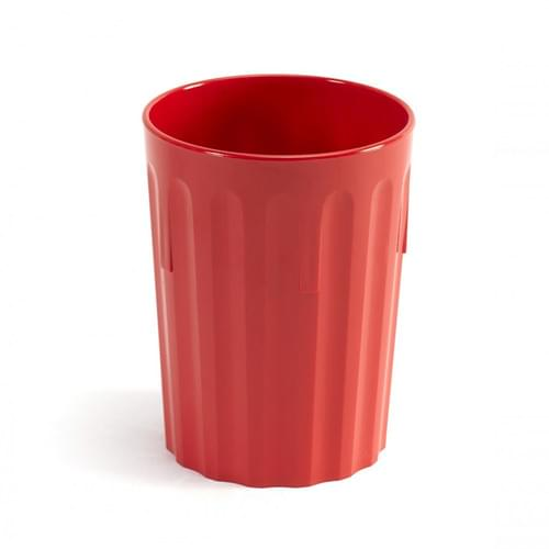 250ml/9oz Fluted Tumbler Red Pk10