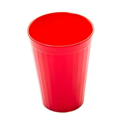 200ml/7oz Fluted Tumbler Red Pk10