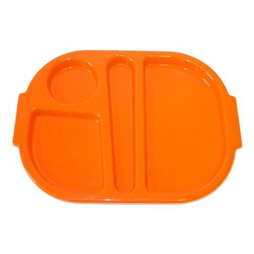 Small Meal Tray Orange Pk10