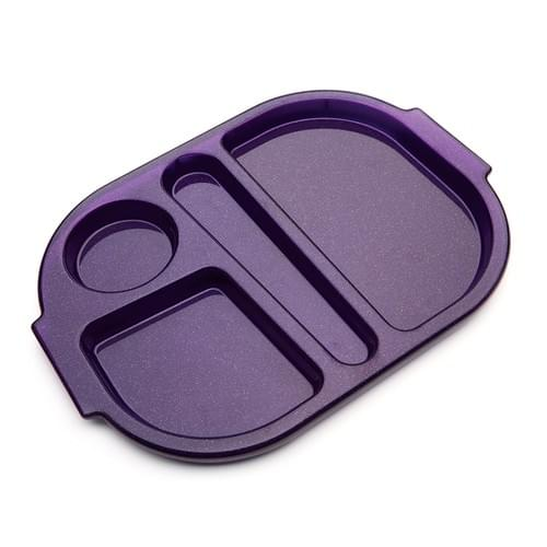 Small Meal Tray Purple Sparkle Pk10