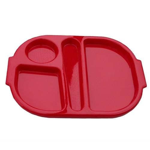 Small Meal Tray Red Pk10