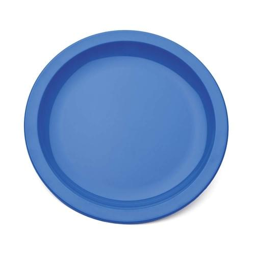 Narrow Rimmed Plate Med Blue Pk10