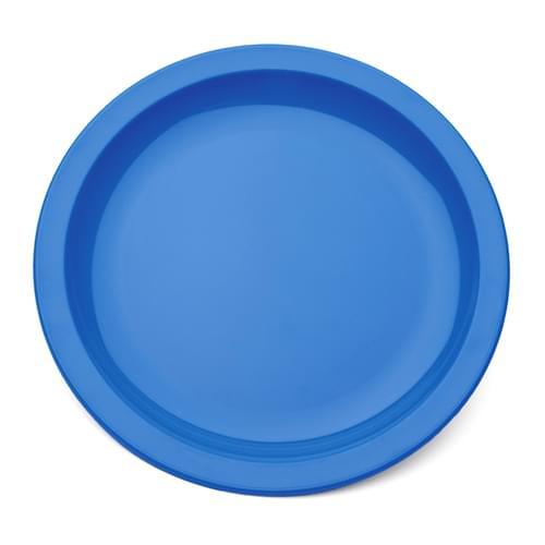 Antibacterial 23cm Polycarbonate Narrow Rimmed Plate Med Blue