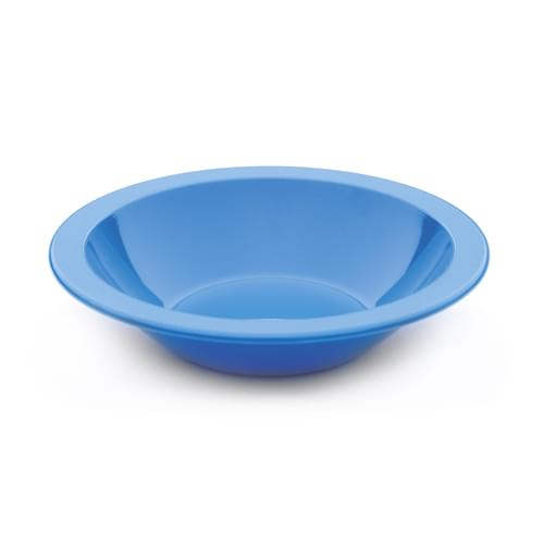 Antibacterial 17cm Polycarbonate Narrow Rimmed Bowl Med Blue