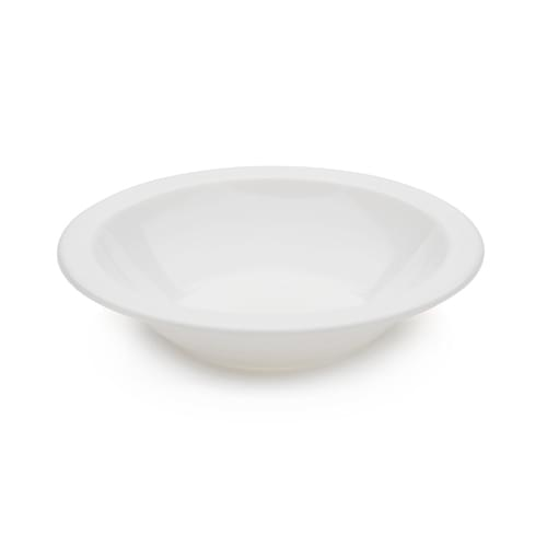 Antibacterial 17cm Polycarbonate Narrow Rimmed Bowl White