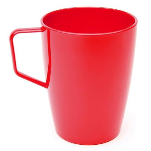 Antibacterial 280ml/10oz Polycarbonate Beaker with Handle Red