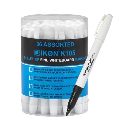 Super Saver Drywipe Pen Black Pk36