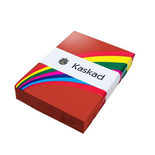 Kaskad Coloured Card Robin Red A3 160gsm