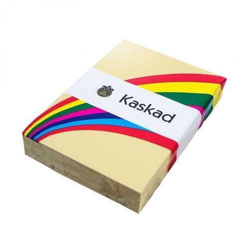 Kaskad Coloured Card Wheatear Yellow A4 160gsm