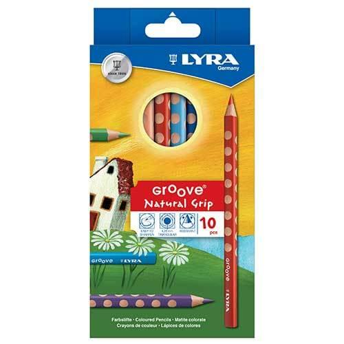 Lyra Groove Colouring Pencils Assorted Wallet of 10