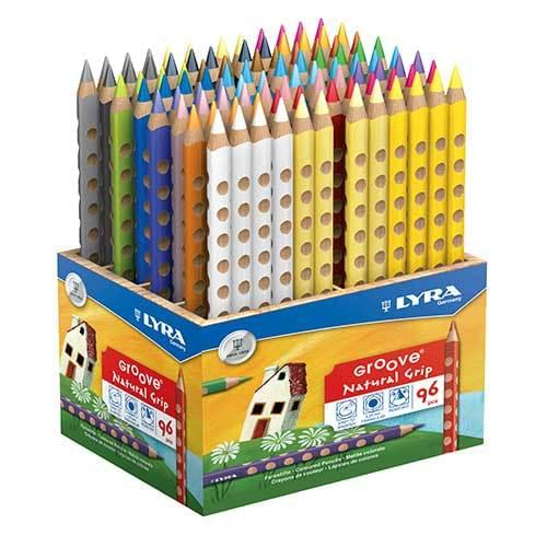 Lyra Groove Colouring Pencils Assorted Classpack of 96
