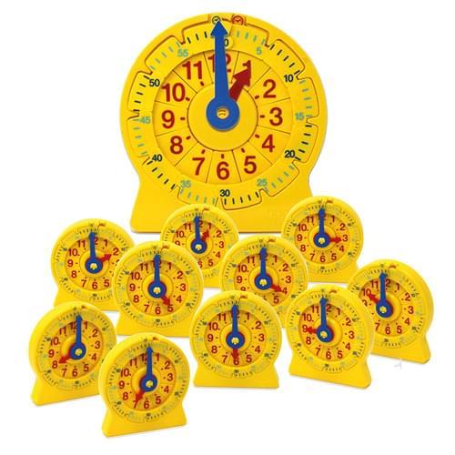 24-Hour Number Line Clock Classroom Set