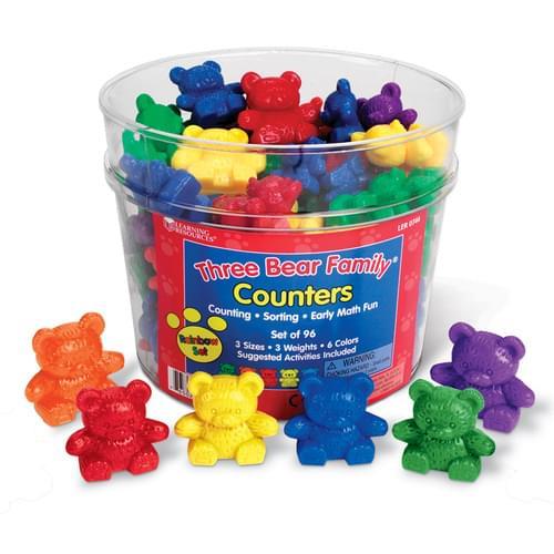 Three Bear Family Rainbow Counters