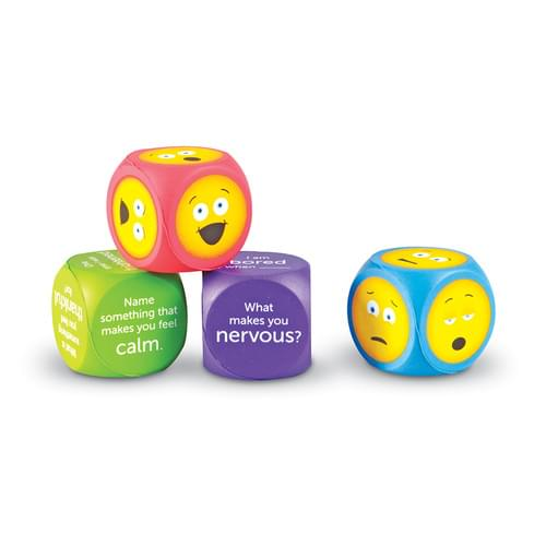 Soft Foam Emoji Cube 4 Piece Set