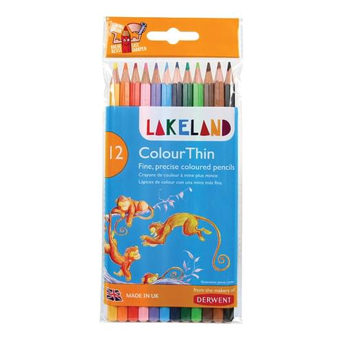 Lakeland Colourthin Colouring Pencils Assorted Wallet of 12