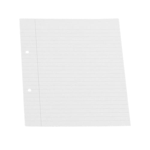 9x7in Punched Exercise Paper 8mm Ruled & Margin 1 Ream