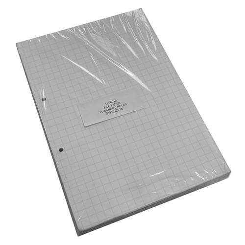 A4 Punched File Paper 10mm Squares 5 Reams