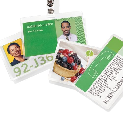 Credit Card Gloss Laminating Pouches 250 Micron Pk100
