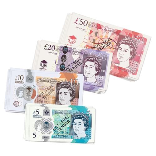 UK Play Money Notes Set
