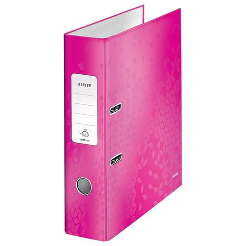 Leitz 180° WOW Laminated Lever Arch File Pink