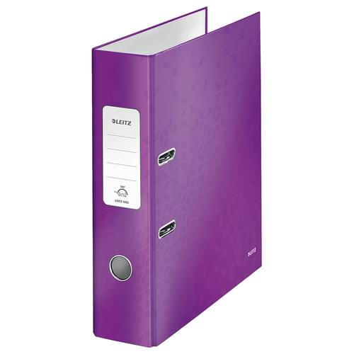 Leitz 180° WOW Laminated Lever Arch File Purple