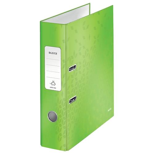 Leitz 180° WOW Laminated Lever Arch File Green
