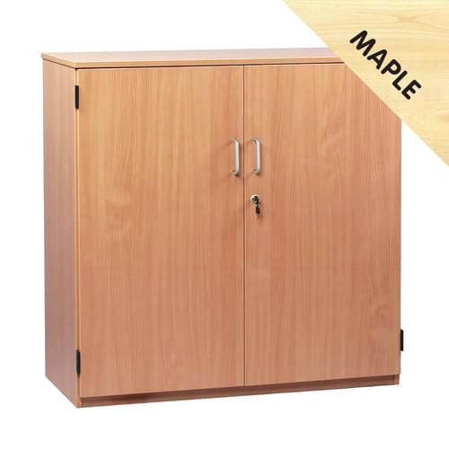 1018mm Tall Cupboard with 2 Shelves Maple
