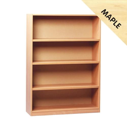 1250mm Tall Bookcase with 3 Shelves Maple