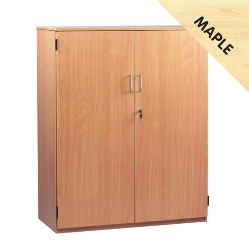 1268mm Tall Cupboard with 3 Shelves Maple