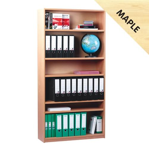 1800mm Tall Bookcase with 5 Shelves Maple
