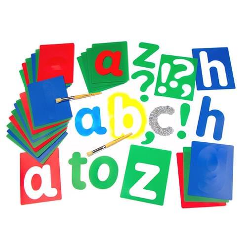 Lower Case Washable Alphabet Lettering Stencils