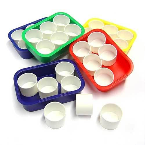Plastic Tray & 6 Water/Paint Pot Set