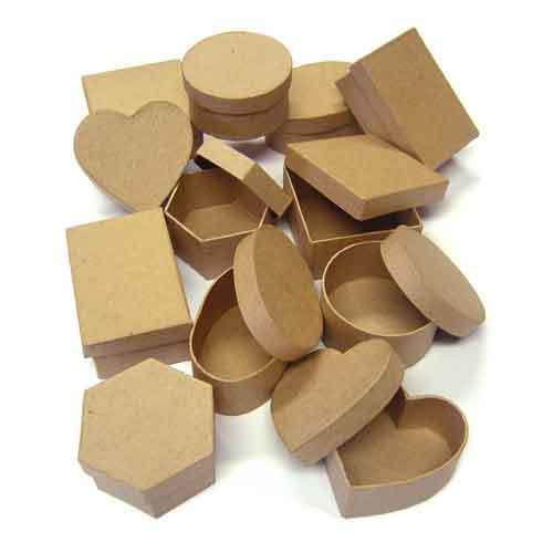 Assorted Craft Boxes Pk12
