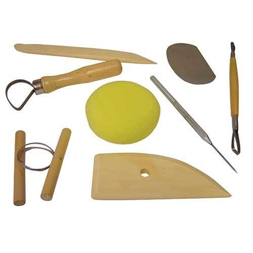 Assorted Set of 8 Clay Modelling Tools