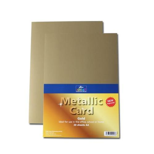 Metallic Card A4 225gsm Gold 20 Sheets